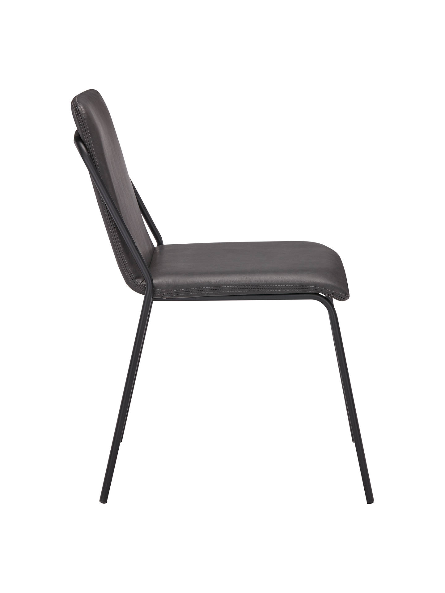 BuyJohn Lewis Rimini Dining Chairs, Set of 2, Dark Grey Online at johnlewis.com