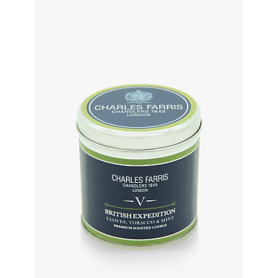 Charles Farris Signature British Expedition Scented Candle Tin