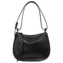 Buy AllSaints Echo Leather Mini Hobo Bag, Black Online at johnlewis.com
