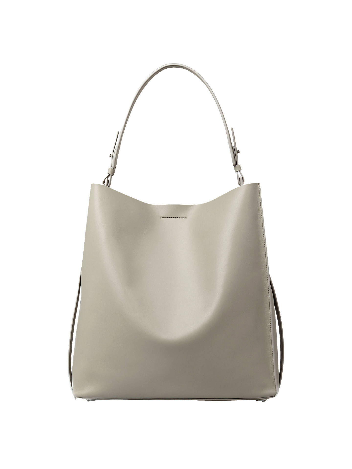 Buy AllSaints Paradise Leather North South Tote Bag, Light Cement Grey Online at johnlewis.com