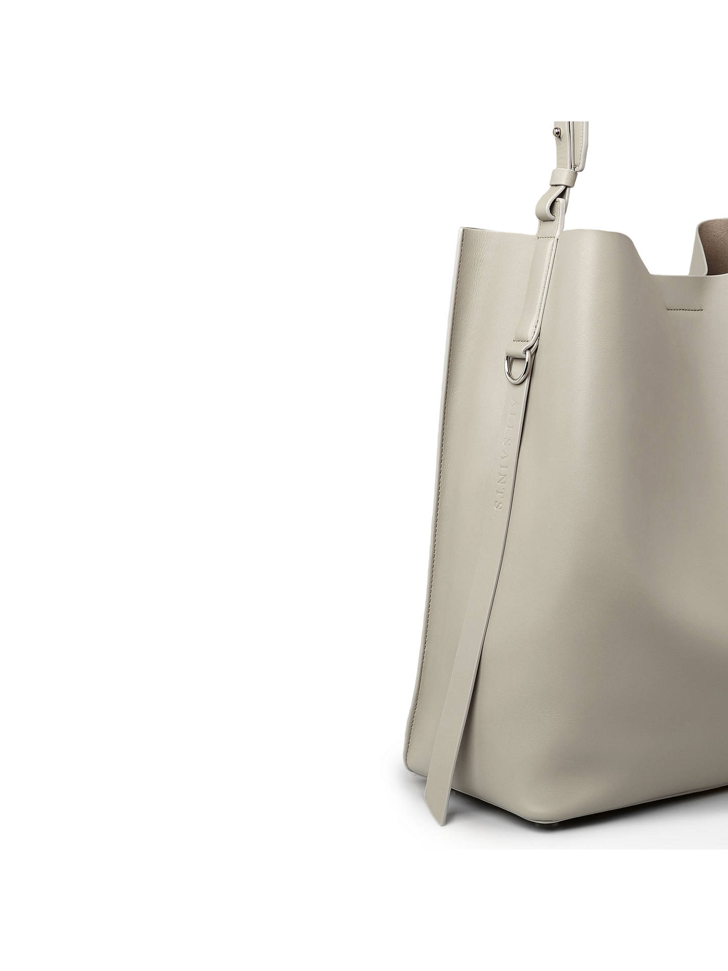 BuyAllSaints Paradise Leather North South Tote Bag, Light Cement Grey Online at johnlewis.com