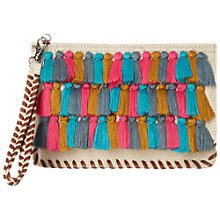 Buy White Stuff Laurie Tassel Jute Clutch Bag, Multi Online at johnlewis.com