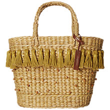 Buy White Stuff Honey Summer Tassel Shopper Bag, Natural Online at johnlewis.com
