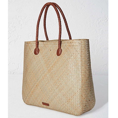Buy White Stuff 'Beach Stuff' Straw Shopper Bag, Natural | John Lewis