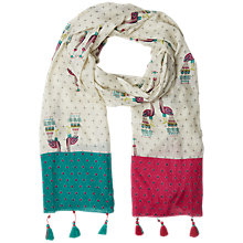 Buy White Stuff Artist Peacock Scarf, White Online at johnlewis.com