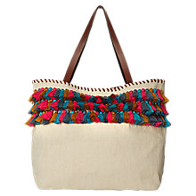 Buy White Stuff Laurie Tassel Jute Tote Bag, Multi Online at johnlewis.com