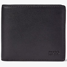 Buy HUGO by Hugo Boss Subway 8 Card Leather Wallet, Red/Black Online at johnlewis.com