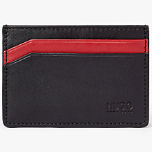 Buy HUGO by Hugo Boss Leather Travel Card Holder, Red/Black Online at johnlewis.com