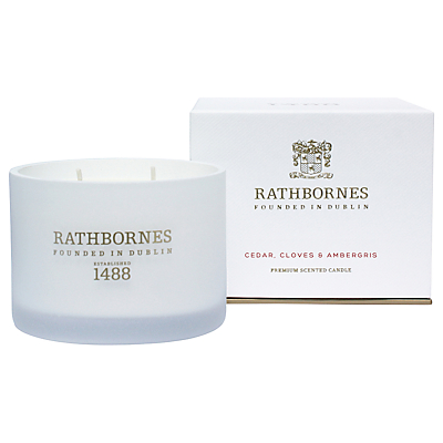 Rathbornes Cedar, Clove & Ambergris Scented Candle