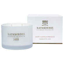 Buy Rathbornes Cedar, Clove & Ambergris Scented Candle Online at johnlewis.com