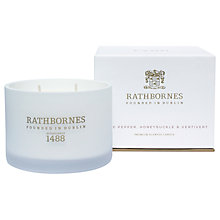 Buy Rathbornes White Pepper, Honeysuckle & Vertivert Scented Candle Online at johnlewis.com