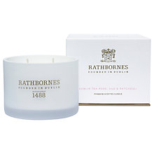 Buy Rathbornes Dublin Tea Rose, Oud & Patchouli Scented Candle Online at johnlewis.com