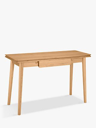 House by John Lewis Bow Folding Console Table, Oak