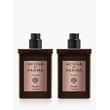 Buy Acqua di Parma Colonia Leather Eau de Cologne Concentrée Travel Refill Spray, 2 x 30ml Online at johnlewis.com