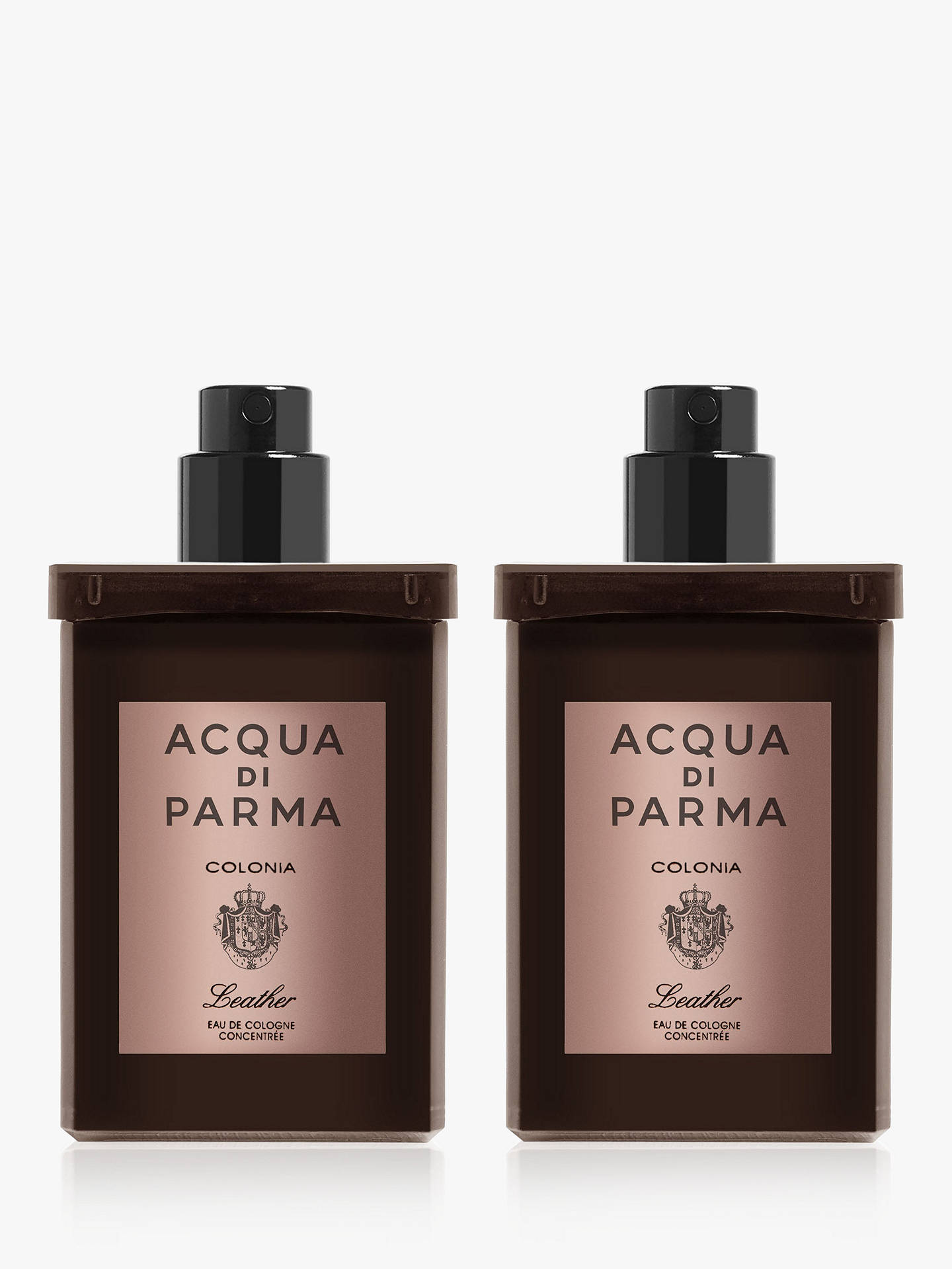 BuyAcqua di Parma Colonia Leather Eau de Cologne Concentrée Travel Refill Spray, 2 x 30ml Online at johnlewis.com