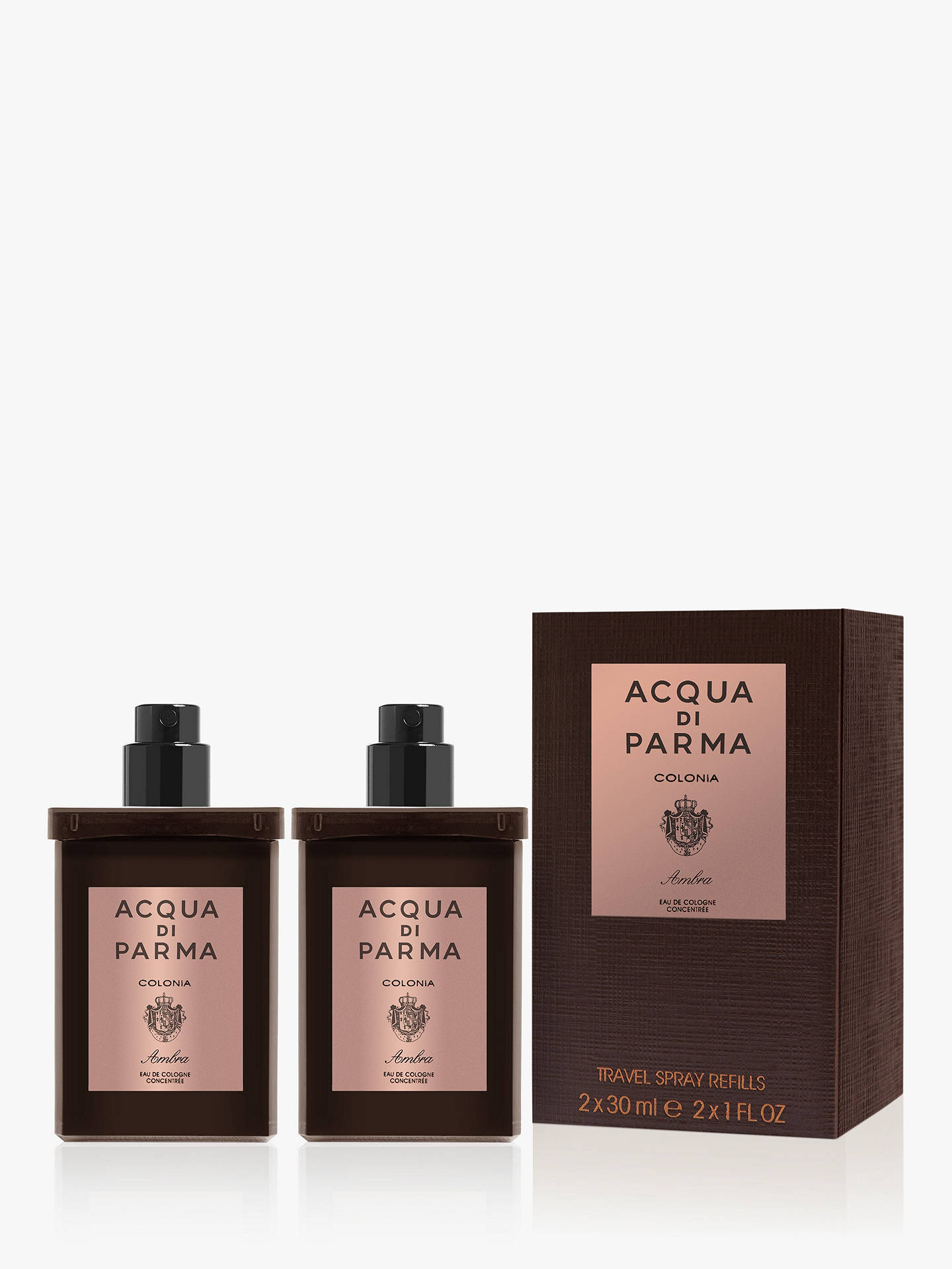 BuyAcqua di Parma Colonia Ambra Eau de Cologne Concentrée Travel Refill Spray, 2 x 30ml Online at johnlewis.com