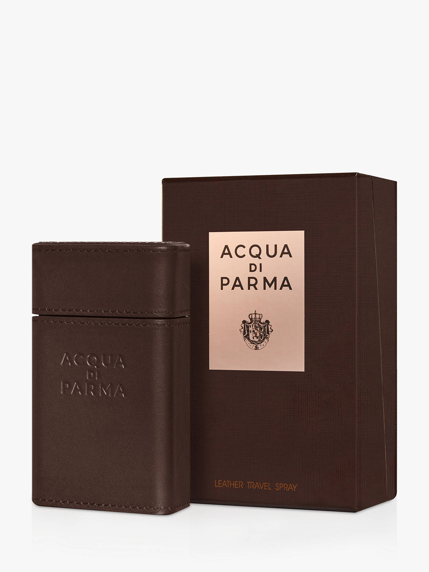Buy Acqua di Parma Ingredient Collection Leather Travel Spray Case Online at johnlewis.com