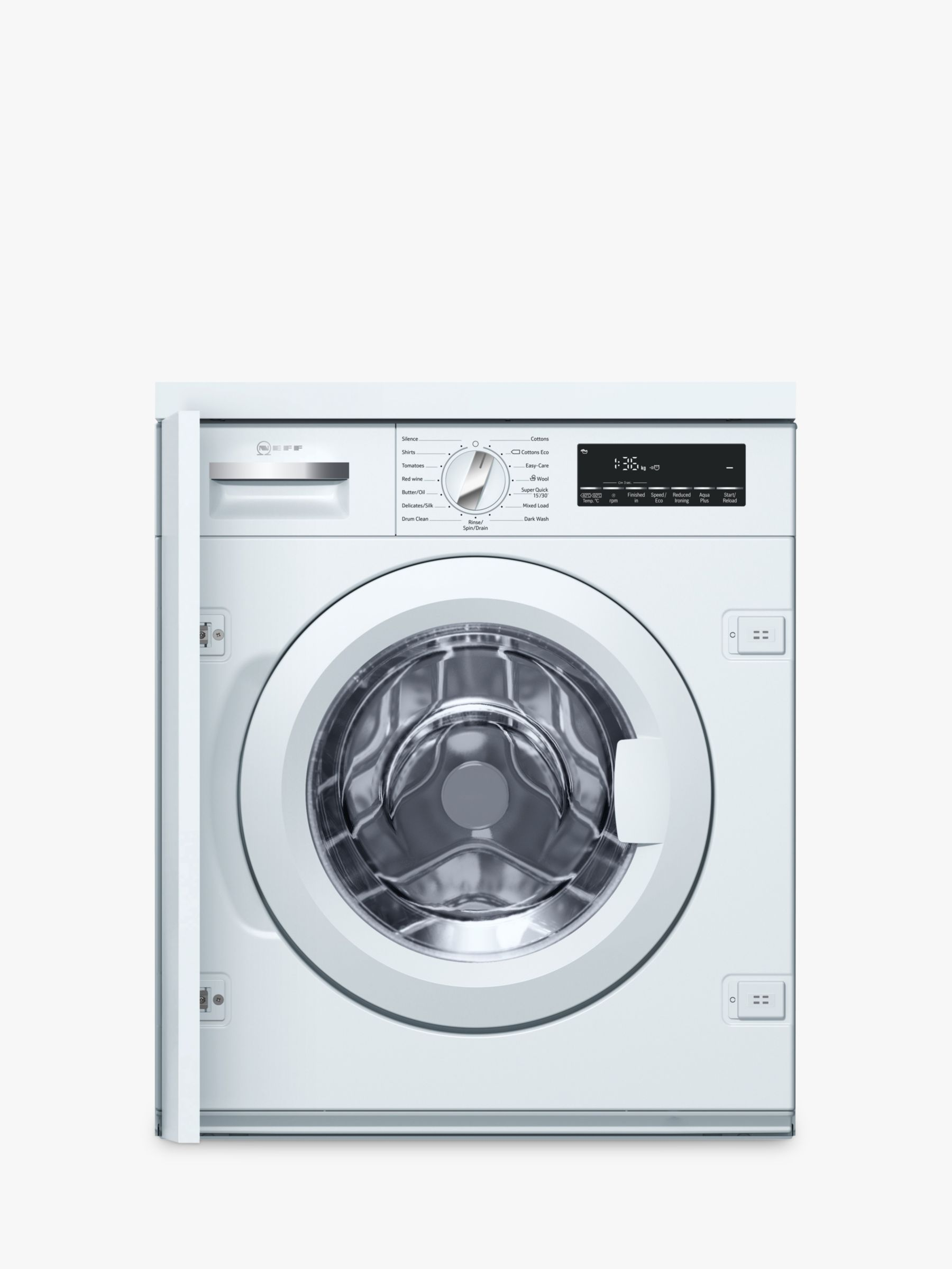 NEFF Neff W544BX0GB Integrated Washing Machine, 8kg Load, A+++ Energy Rating, 1400rpm Spin, White