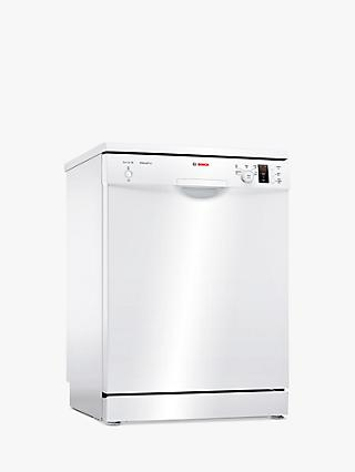 Bosch SMS25AW00G Freestanding Dishwasher, White