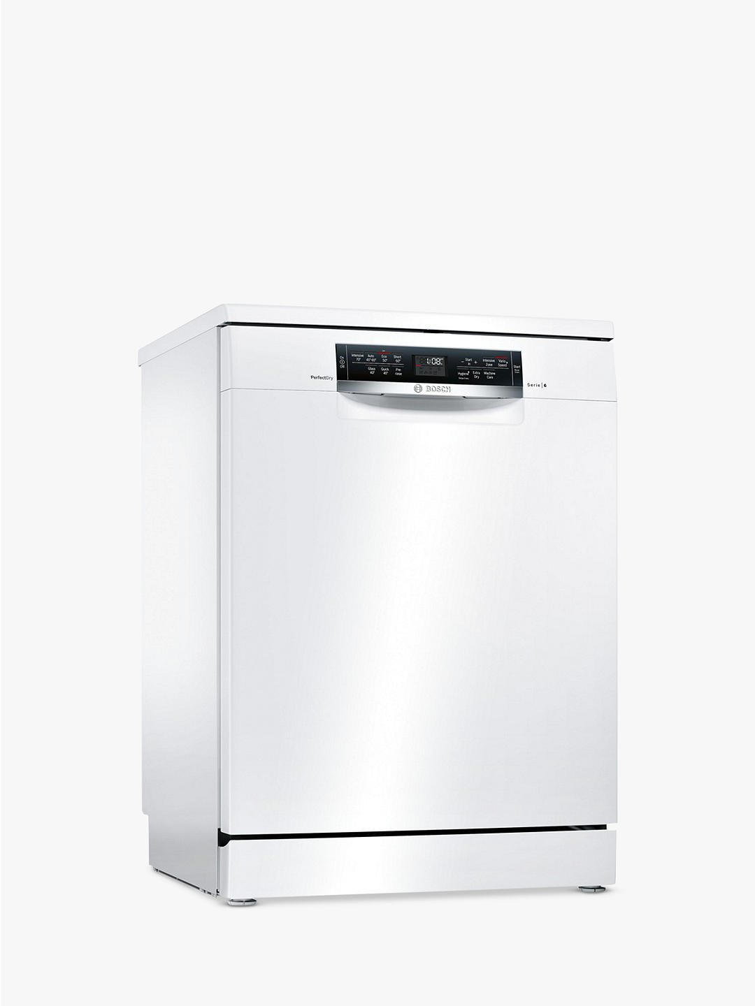Buy Bosch SMS67MW00G PerfectDry Freestanding Dishwasher, White Online at johnlewis.com