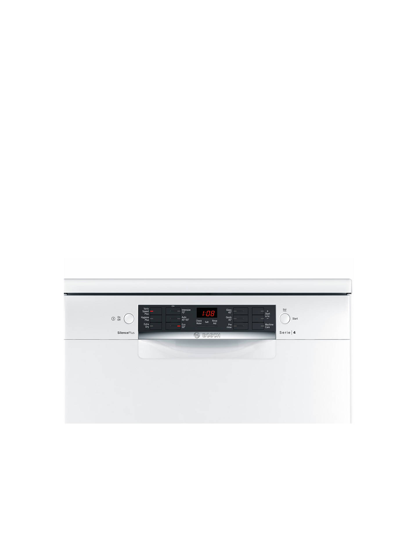 BuyBosch SMS46IW04G Freestanding Dishwasher, White Online at johnlewis.com
