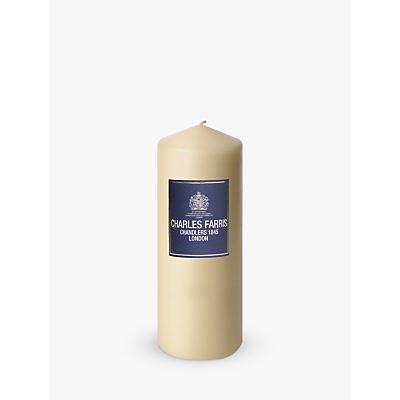 Charles Farris Altar Pillar Candle, H25cm, Ivory