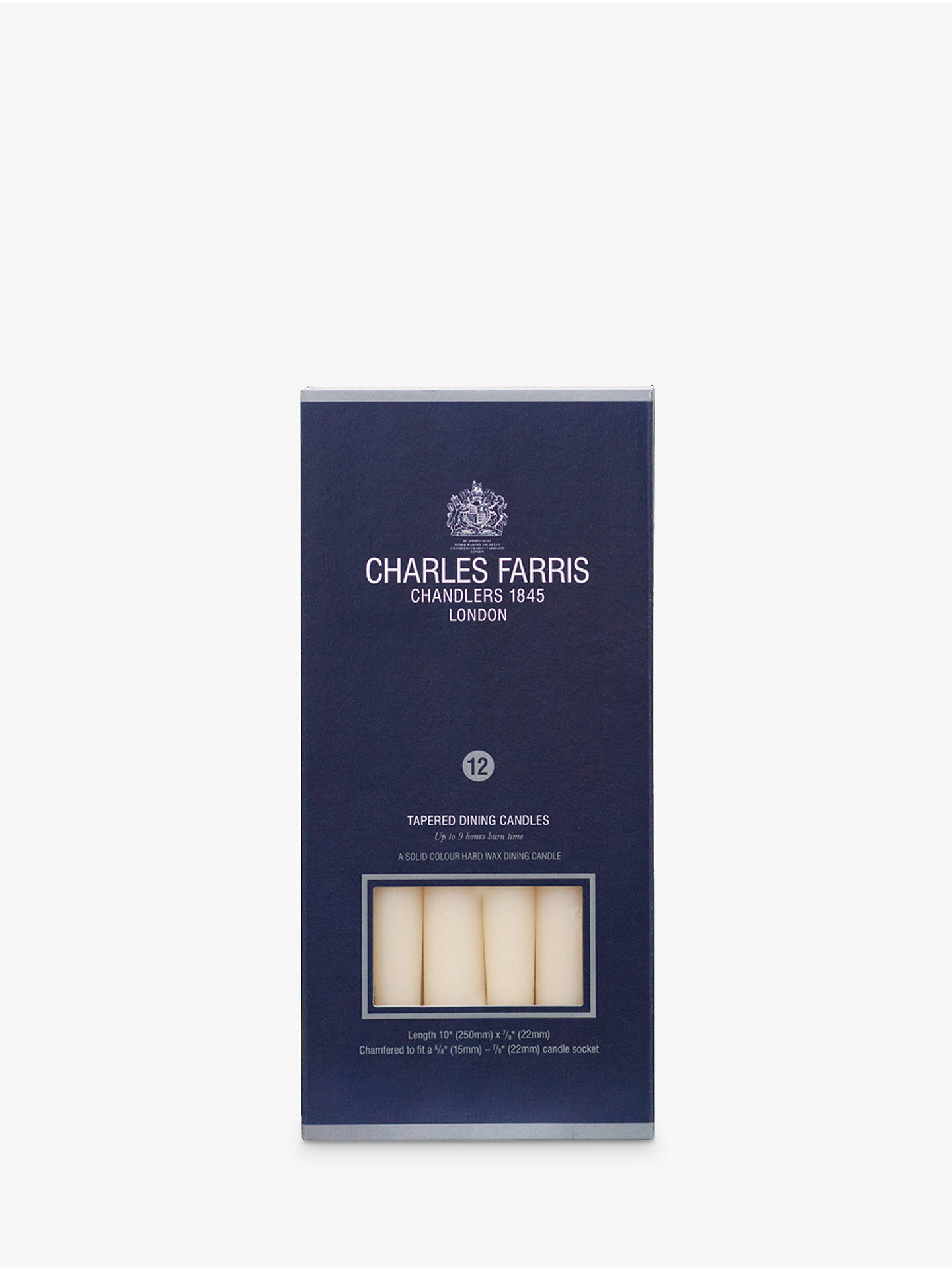 BuyCharles Farris Dinner Candles, Pack of 12, Ivory Online at johnlewis.com