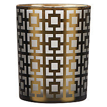 Buy Deco Squares Tealight Holder, Gold Online at johnlewis.com
