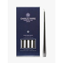 Buy Charles Farris Dinner Candles, Pack of 12, Silver Online at johnlewis.com