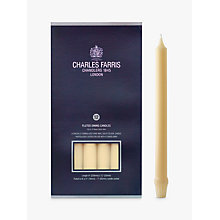 Buy Charles Farris Royal Candelabra Dinner Candles, Pack of 12, Ivory Online at johnlewis.com