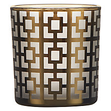 Buy Geo Squares Tealight Holder, Gold Online at johnlewis.com