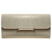 Buy Phase Eight Lotty Leather Clutch Bag, Champagne Online at johnlewis.com