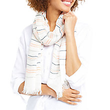Buy Oasis Neon Stripe Scarf, Multi/Neon Online at johnlewis.com