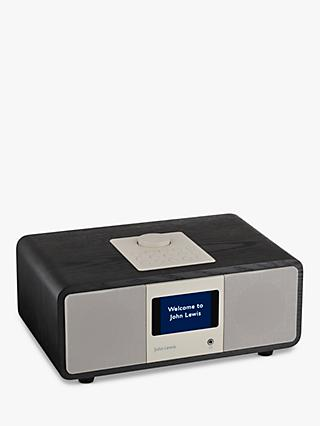 John Lewis & Partners Octave DAB/DAB+/FM/Internet Radio with Wi-Fi & Bluetooth, Black Ash