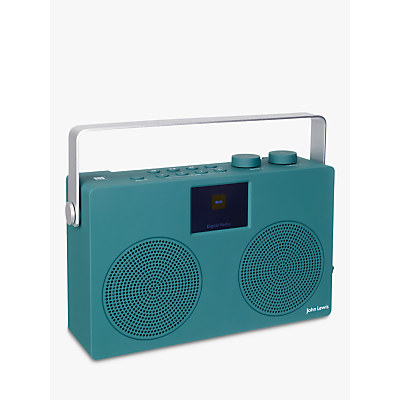 Image of John Lewis & Partners Spectrum Duo II DAB/DAB+/FM Bluetooth NFC Digital Radio, Teal