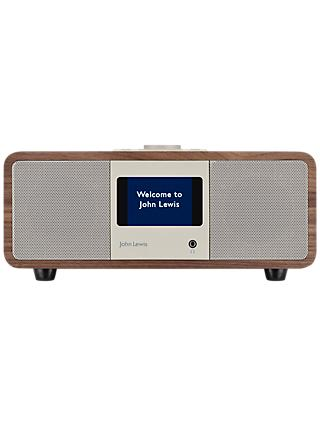 John Lewis & Partners Octave DAB/DAB+/FM/Internet Radio with Wi-Fi & Bluetooth, Walnut