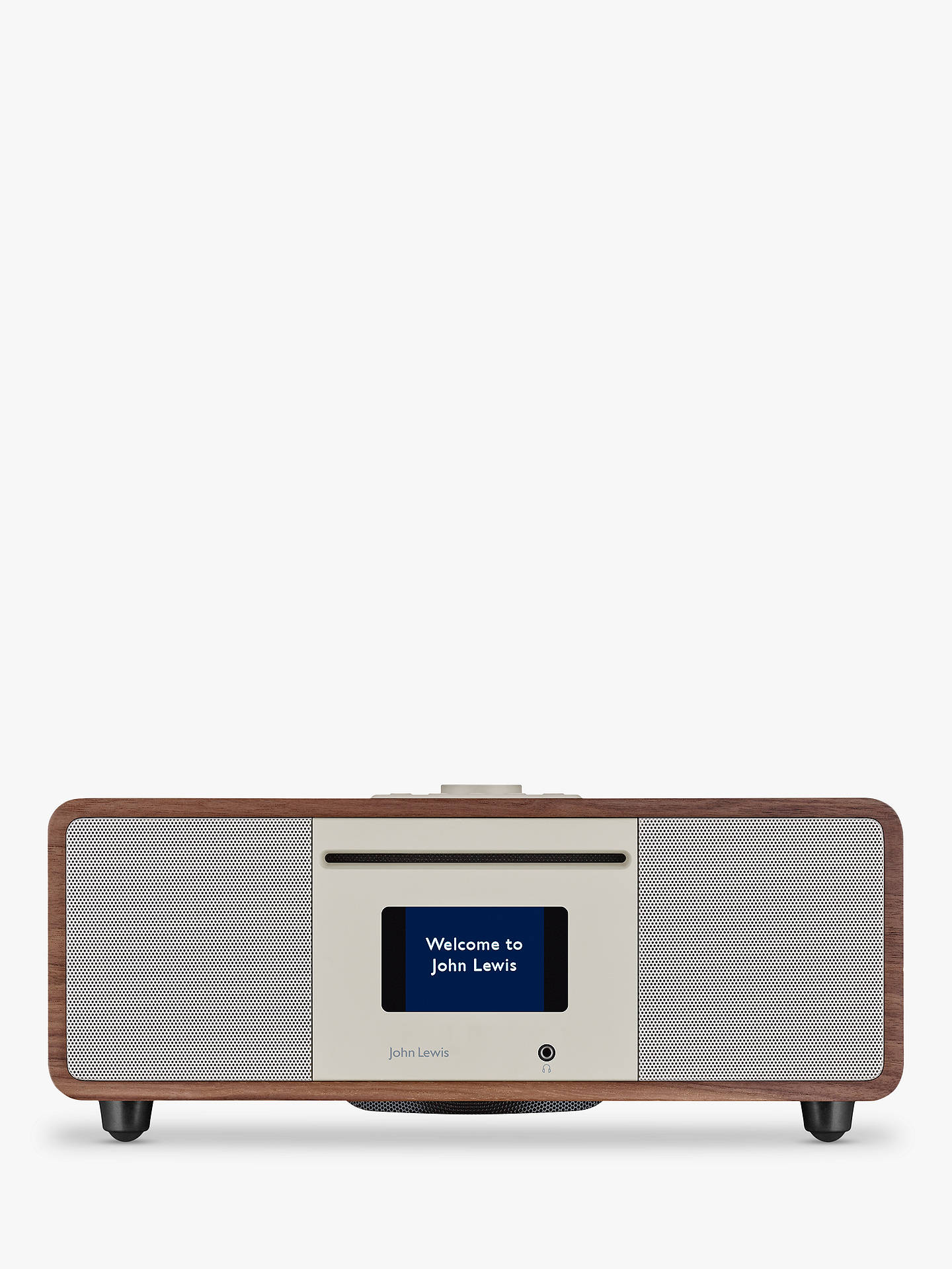 BuyJohn Lewis & Partners Cello Hi-Fi Music System with DAB/DAB+/FM/Internet Radio, CD Player, Wi-Fi & Bluetooth, Walnut Online at johnlewis.com