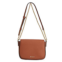 Buy DKNY Bryant Park Saffiano Leather Across Body Bag, Terracotta Online at johnlewis.com
