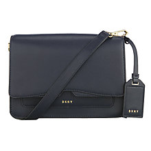 Buy DKNY Bryant Park Saffiano Leather Flap Across Body Bag, Navy Online at johnlewis.com