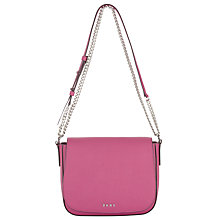Buy DKNY Bryant Park Saffiano Leather Medium Cross Body Bag, Cerise Online at johnlewis.com