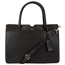 Buy DKNY Bryant Park Saffiano Leather Large Tote Bag, Black Online at johnlewis.com