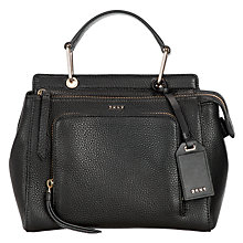 Buy DKNY Deerskin Leather Mini Top Handle Across Body Bag, Black Online at johnlewis.com