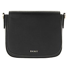Buy DKNY Bryant Park Saffiano Leather Across Body Strap, Black Online at johnlewis.com