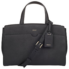 Buy DKNY Bryant Park Saffiano Leather East / West Tote Bag, Black Online at johnlewis.com