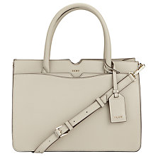 Buy DKNY Bryant Park Saffiano Leather Large Satchel, Blush Grey Online at johnlewis.com