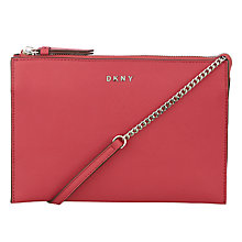 Buy DKNY Bryant Park Saffiano Leather Flat Zip Across Body Bag Online at johnlewis.com
