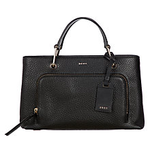 Buy DKNY Deerskin Leather Small Grab Bag, Black Online at johnlewis.com