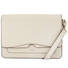 Buy DKNY Bryant Park Saffiano Leather Flap Across Body Bag, Blush Grey Online at johnlewis.com