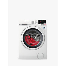 Buy AEG L7WBG741R Freestanding Washer Dryer, 4kg Wash/7kg Dry Load, A Energy Rating, 1400rpm Spin, White Online at johnlewis.com