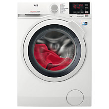 Buy AEG L7WEG851R Freestanding Washer Dryer, 8kg Dry/5kg Wash Load, A Energy Rating, 1600rpm Spin, White Online at johnlewis.com